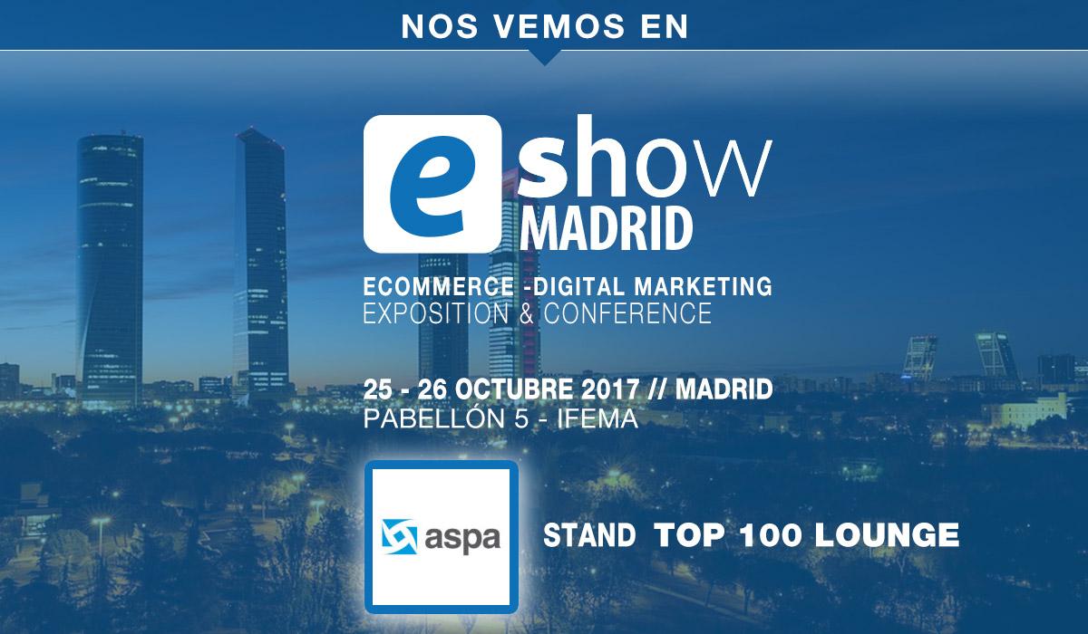 ASPA participa en eShow  Madrid 2017. (25-26 Oct.17)